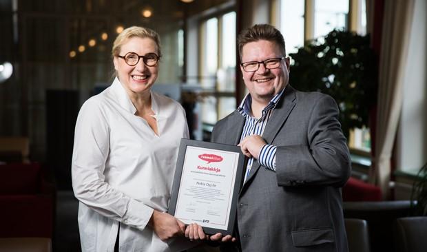 Nokian Anneli Karlstedt ja Janne Lindström